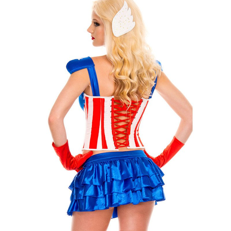 Halloween Role - Playing American Agents Female Captain Uniforms Temptation Uniform Halloween Costume