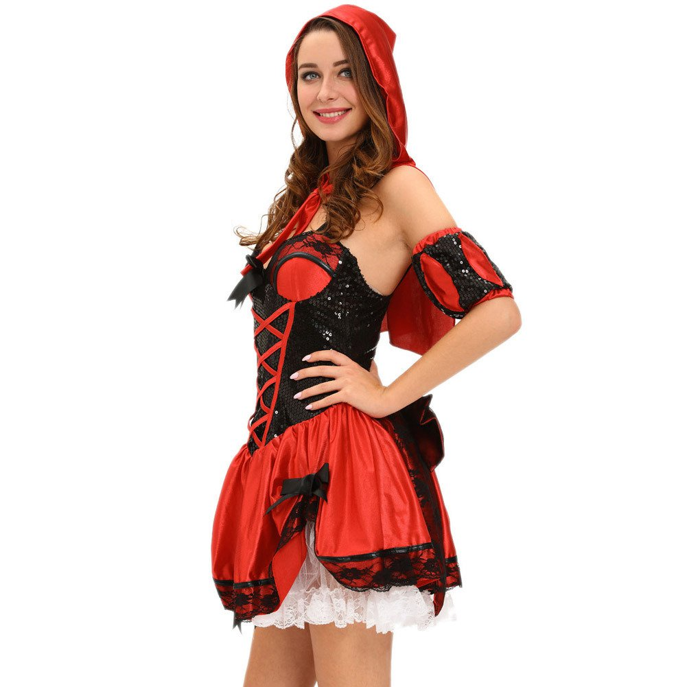 Halloween Sling Showcase Four - Piece Bow Sequin Stage Halloween Costume