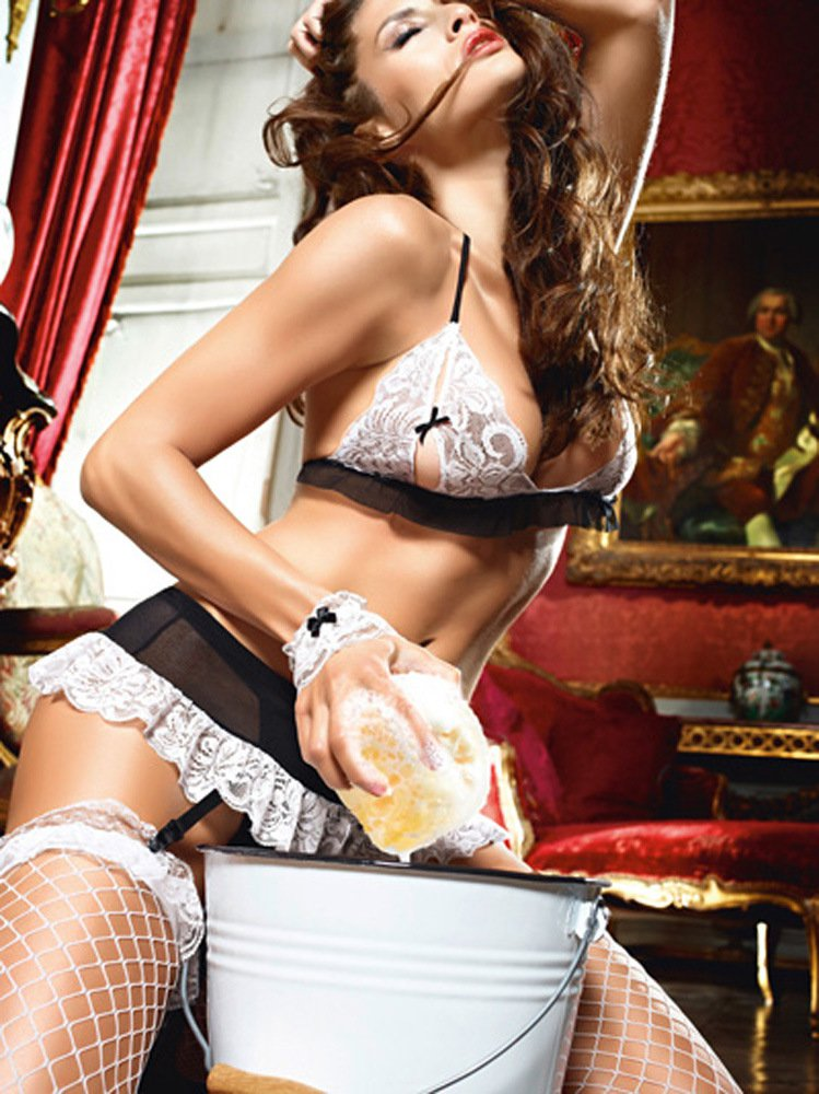 Ladies #39 Sexy Maid Underwear Set Uniform Halloween Costume