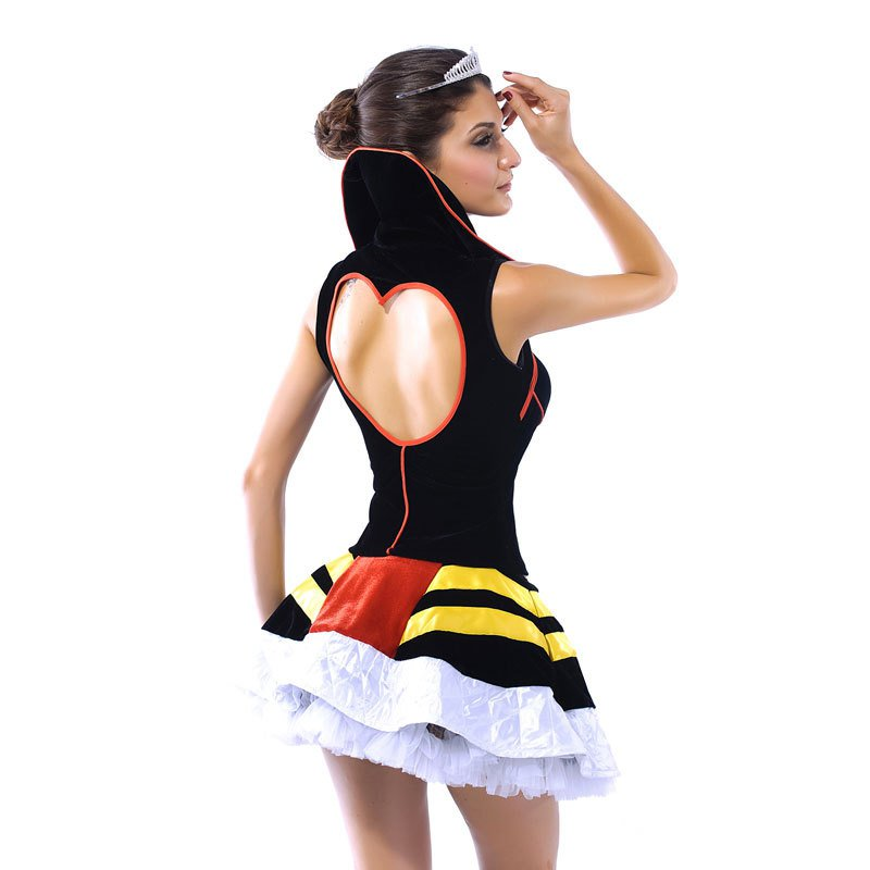 Standing Collar Spaghetti Queen #39 S Stage Halloween Costume