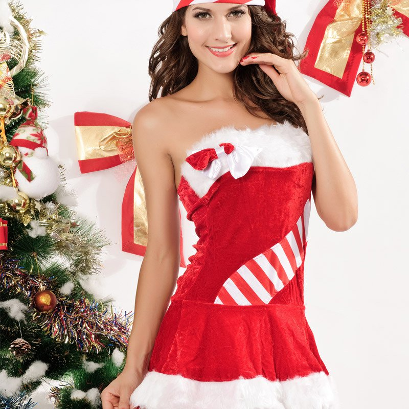 Christmas Dress with A Red Dress Europe and America