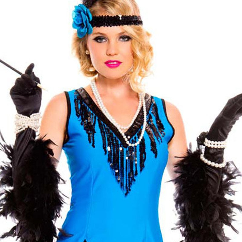 European and American Halloween Role - Playing Aristocratic Sleeveless V - Necklace Sequins Fringed Stage Equipment Halloween Costume