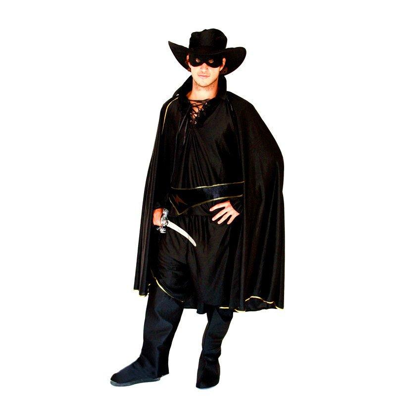 Halloween Costume Adult Makeup Zorro Masked Costume