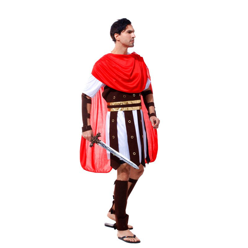 Halloween Costume Stage Adult Prince of Rome Dress Up Performance Dress