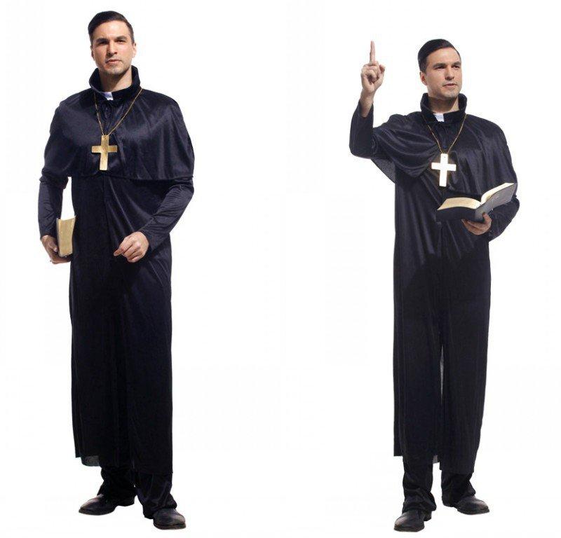 Halloween Costumes Adult Makeup Performance Costumes Priest Service Priest Service