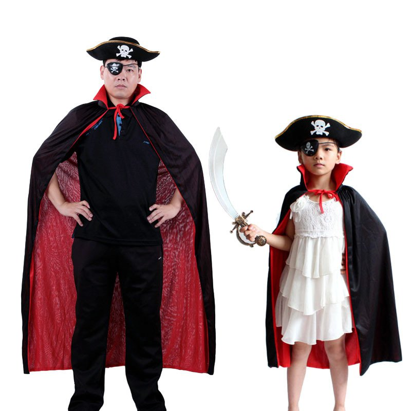 Halloween Collar Black and Red Cloak Witch Cloak Vampire Cloak Double Layer Single Layer Cloak Death God Devil