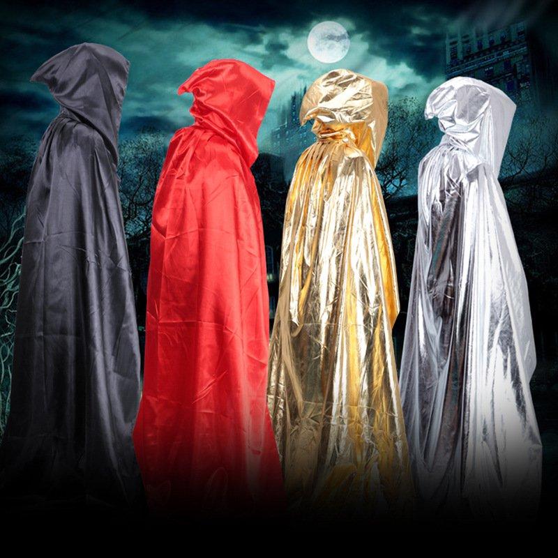 Halloween Costume Dress Clothing Witch Cloak Mop Death Death Cloak Adult Cloak Castle Black Red Cloak