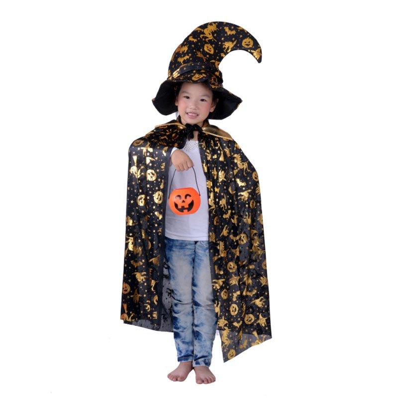 Halloween Costumes Dress Up Men and Women Pumpkin Barrels Gold Pumpkin Cloak