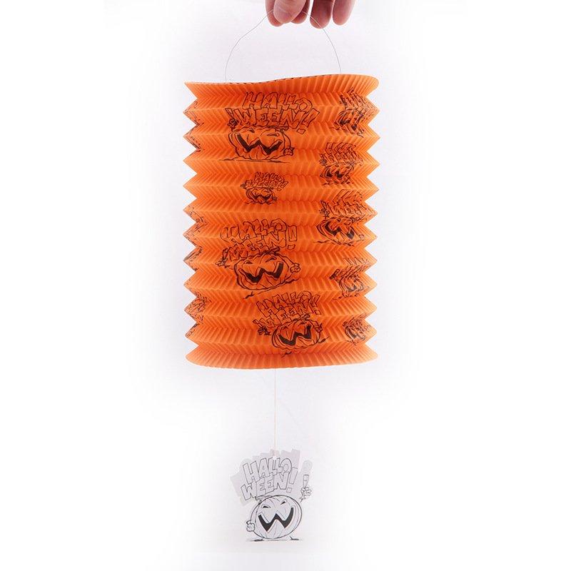 Halloween Decorative Items Pumpkin Lanterns Telescopic Cylindrical Paper Lanterns