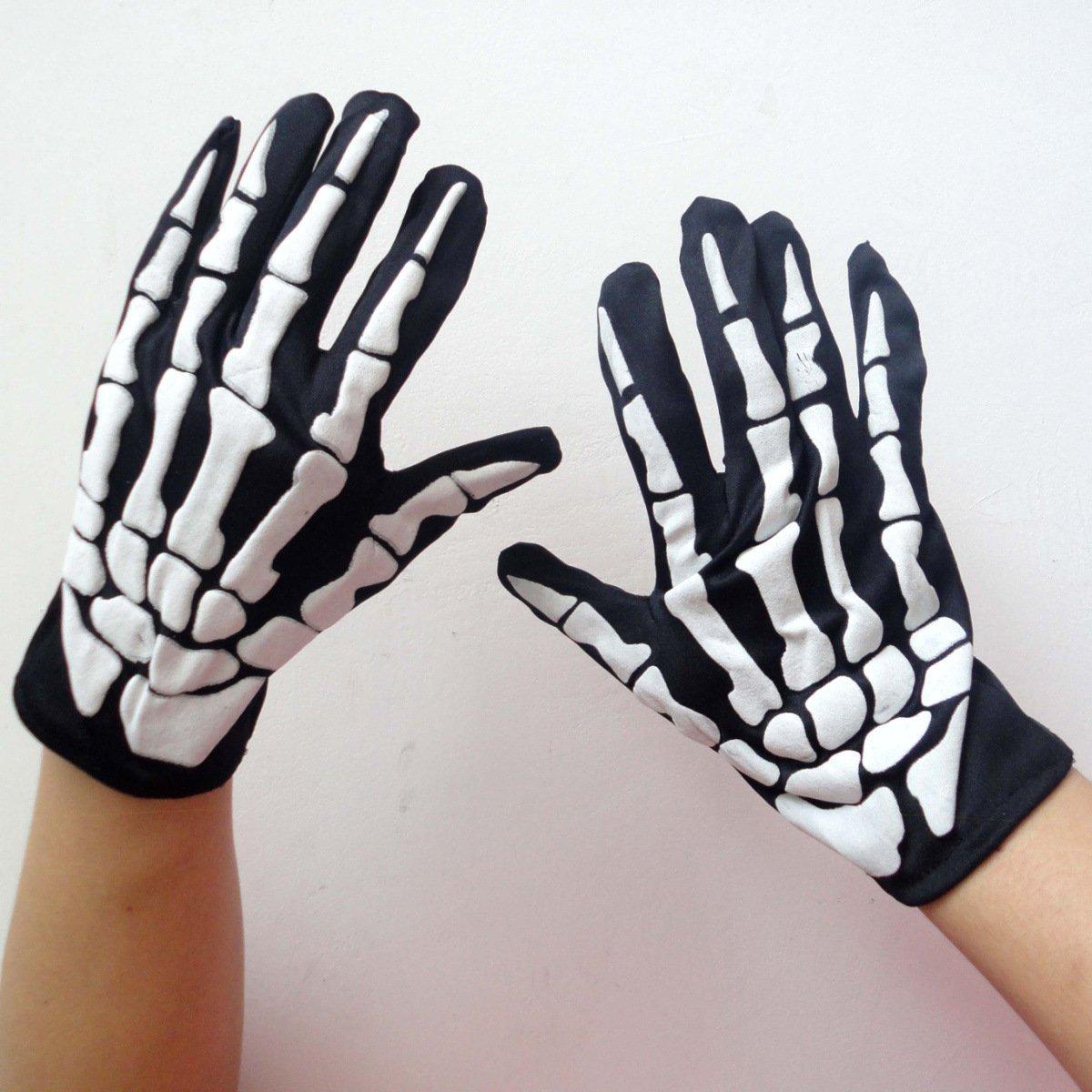 Halloween Supplies Decorations Terror Skeleton Gloves Gloves Cloth Bags