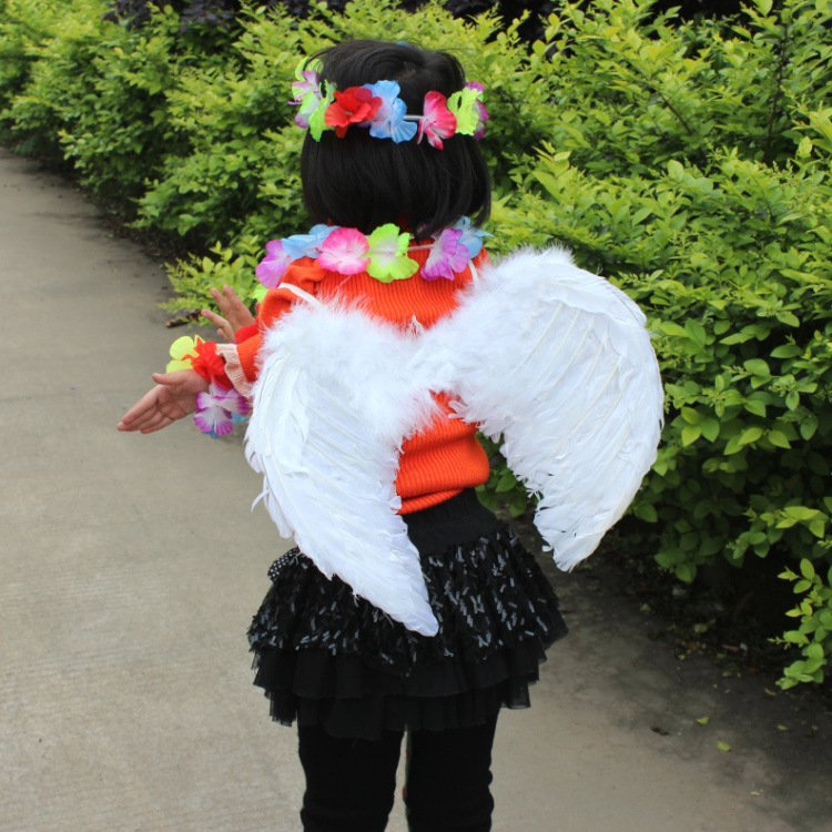 Gift Angel Wings White Feather Wings Angel Halloween Feather Wings