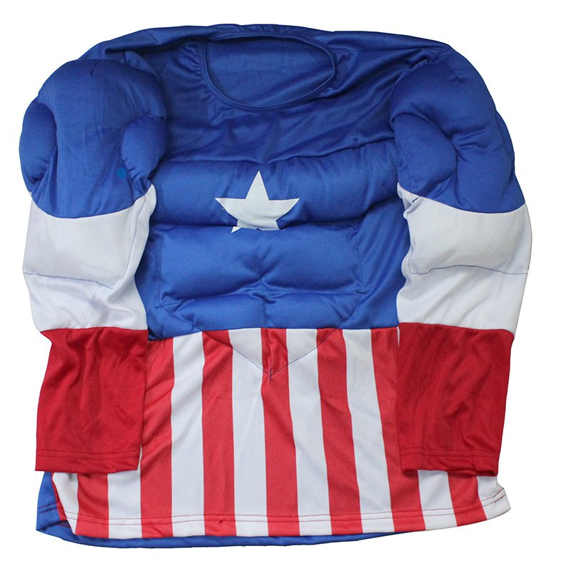 Halloween Adult Clothing Musical Wear American Captain Muscle American Warrior Set
