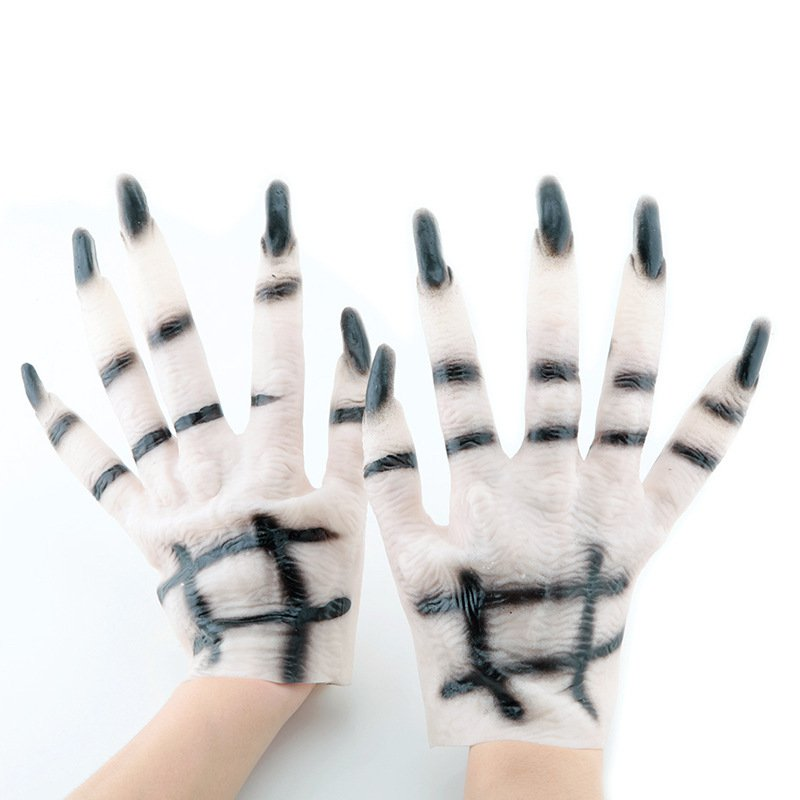 Halloween Cosmetics Gloves Accessories White Ghost Gloves