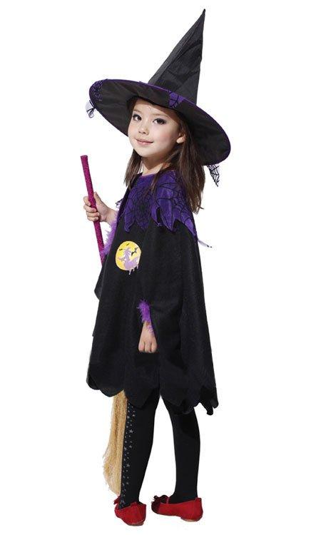 Halloween Flower Girl Dress Performance Dress Christmas Makeup Witch Style