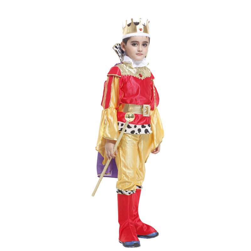 Halloween Costume Male Stage White Horse Prince Costume Dance Performance Suit