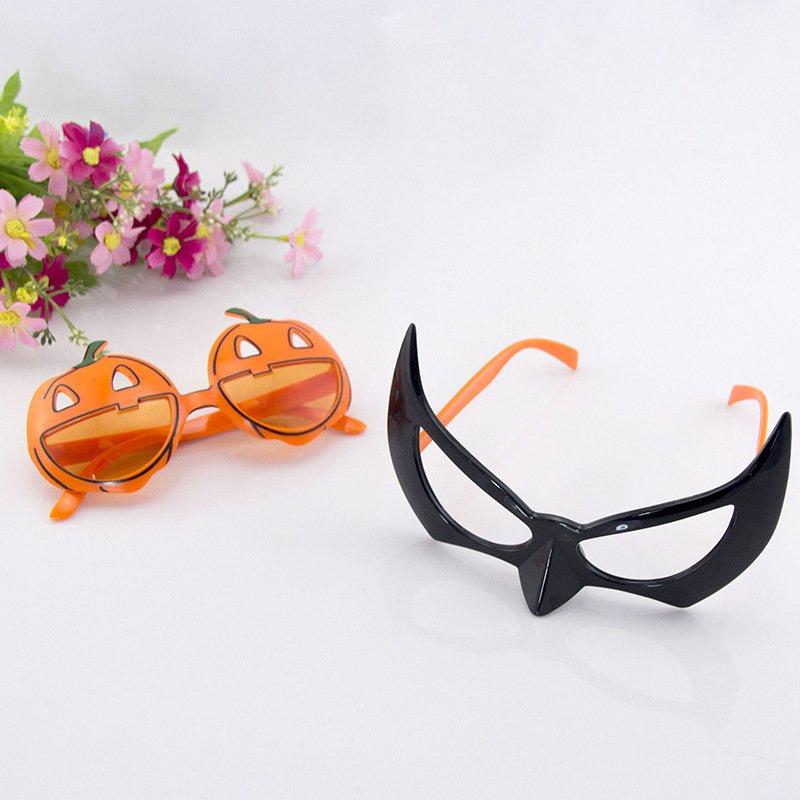 Show Halloween Pumpkin Bats Spider Web Dress Up Pumpkin Funny Plastic Glasses Pumpkin Glasses