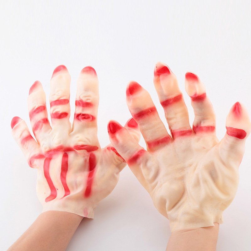 Halloween Makeup Performance Gloves Accessories Male Style Gloves Gloves Red