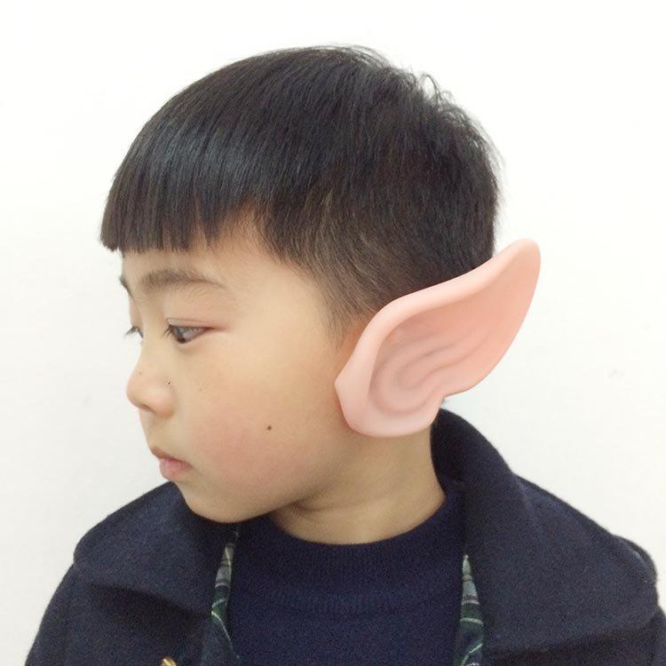 Halloween Elf Ear Earrings Dress Up False Ears Ear Ears Latex Varnish Fairy Ears