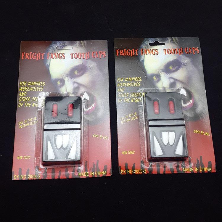 Makeup Halloween Devil Fingers Ghosts Dentures Zombies Vampire Dentures Four Dentures Plasma Blood Pills
