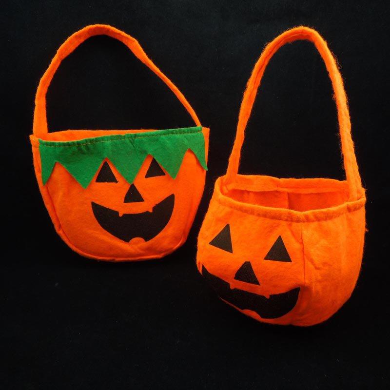 Halloween Supplies Handbag Pumpkin Bag Halloween Nonwovens Pumpkin Bag Stereo Pumpkin Bag