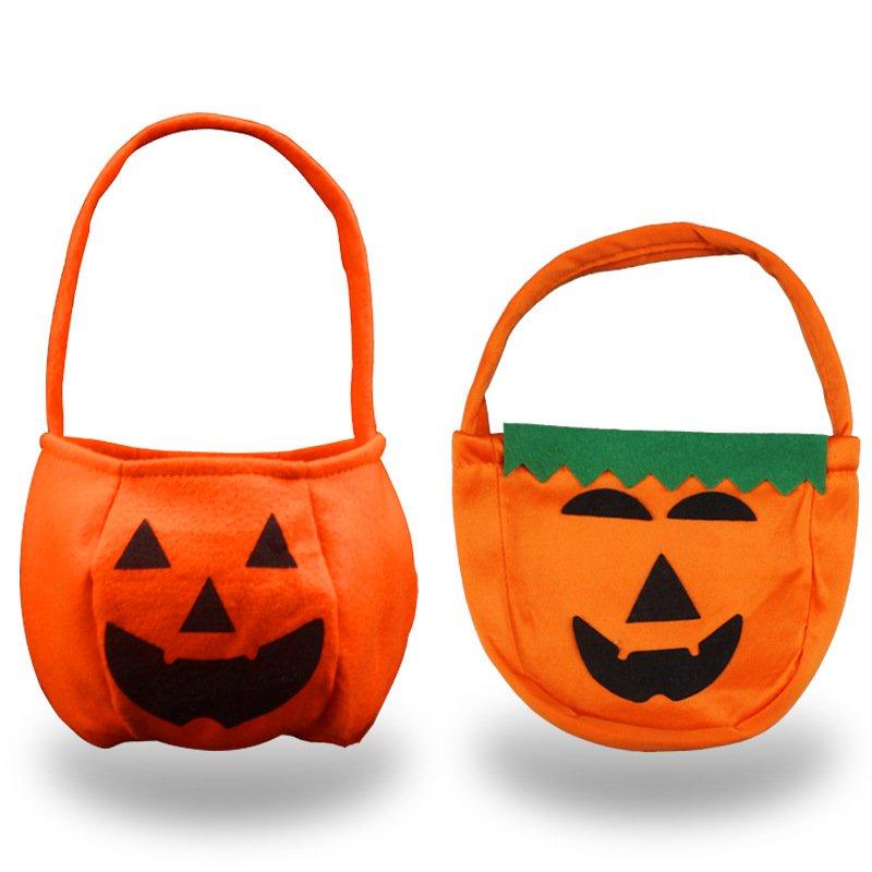 Halloween Ornaments Pumpkin Bag Handmade Nonwovens Pumpkin Bag Child Gift Candy Bag Basket