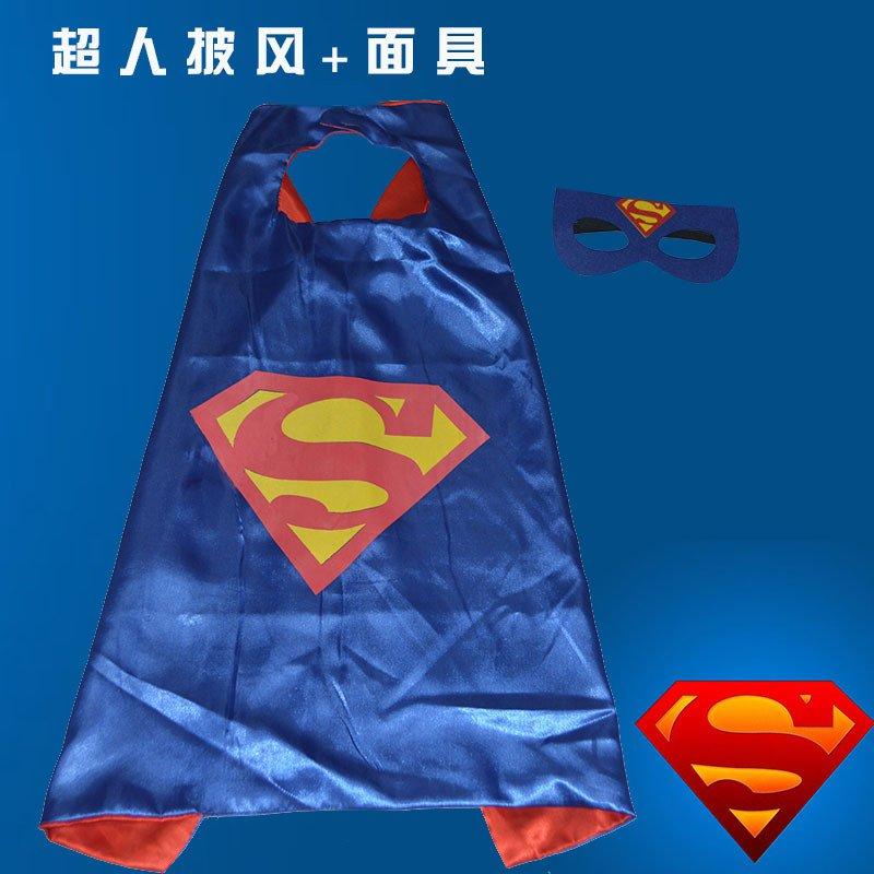 Halloween Cloak Child Man Captain Batman Makeup Apparel Robin Cloak Iron Man