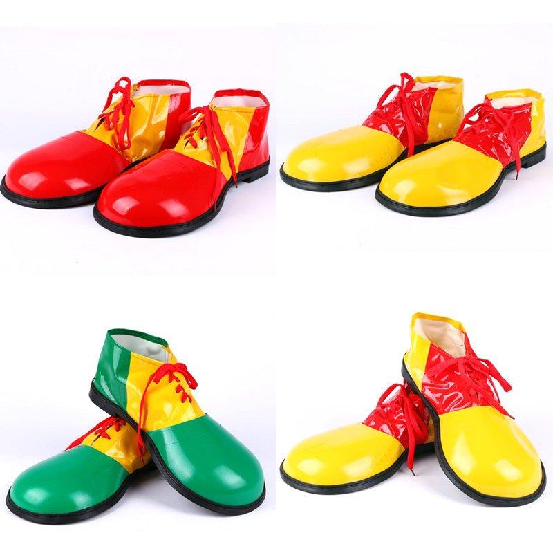 Halloween Costume Clown Dress Up Clown Clown Shoes Adult Leather Clown Shoes