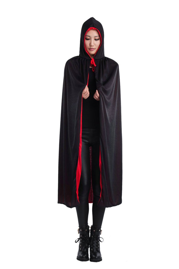 Halloween Costume Clothing Death Cloak Cloak Two Color Double Layer M with Hat Cloak