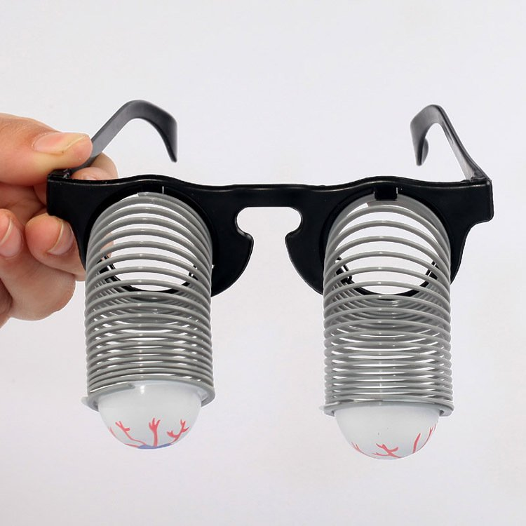 Halloween Supplies Entire Fool Day Toys Funny Glasses Springs Glasses
