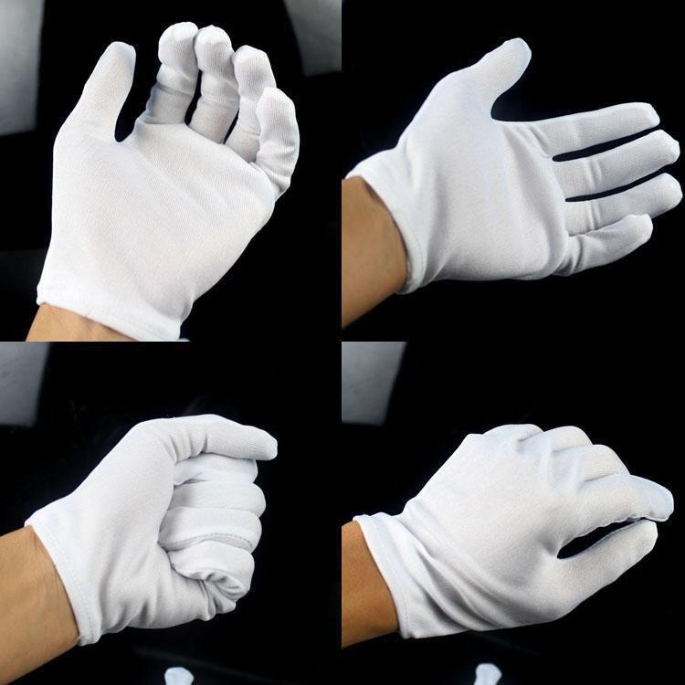 Halloween Dress Up Mechanical Dance White Gloves White Gloves Hip-hop Gloves Magic Gloves Cotton