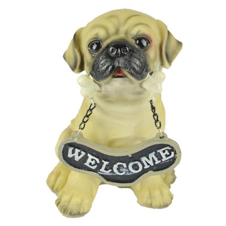 Resin Crafts Animal Home Decoration Decoration Dog Model Office Lucky Simulation Dog Dog Child Gift