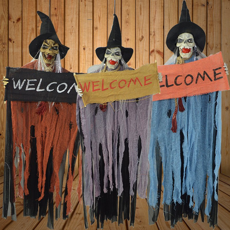 Halloween Ghost Room Chamber of Secrets Playground Ktv Decorative Guards Hymn Witch Laughing Haha Music Ghosts