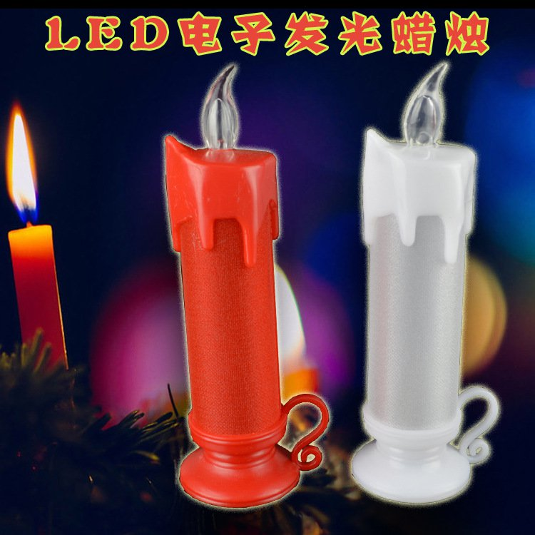 Led Electronic Candle Creative Candle Marriage Proposal White Fun Night Light Christmas Decorations Wedding Supplies