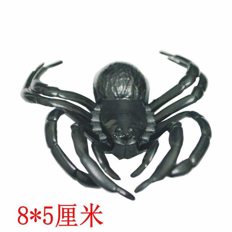 Halloween Tricky Black Spider Simulation Animal Spider Web Black Medium Spider 8