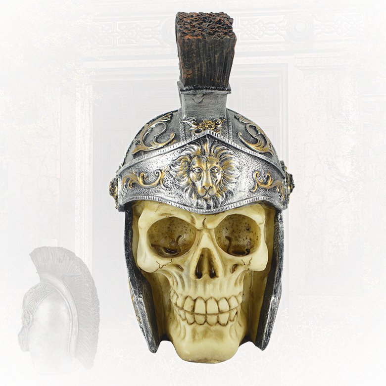 Halloween Horror Decoration Ghost Room Secret Room Escape Scene Decoration Person Skull Simulation Ghost Roman Helm