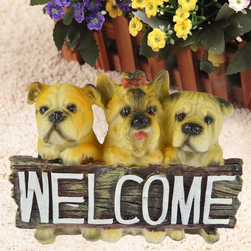 Resin Animal Crafts Home Office Puppy Decoration Festival Gift Birthday Gift Simulation Dog Model