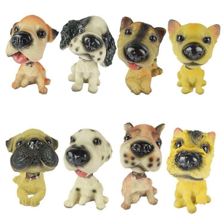 Resin Puppy Animal Model Car Interior Home Decoration Ornaments Shaking His Head Dog Zodiac Dog