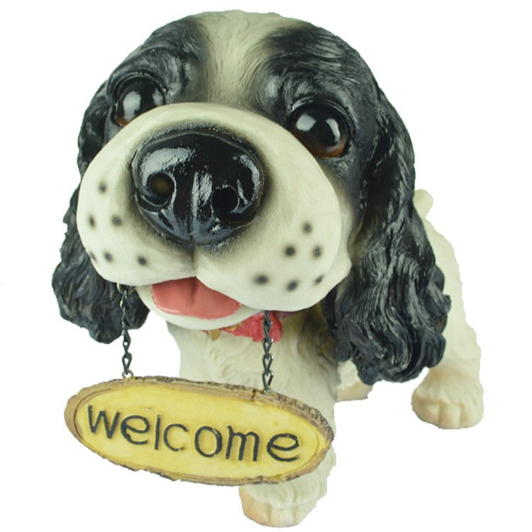 Resin Puppy Office Home Interior Decoration Decoration Dog Model Simulation Animal Child Gift