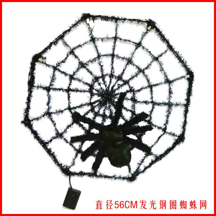 Halloween Ghost Festival Supplies Color Luminescent Spider Webs Ravens Spider Webs Diameter