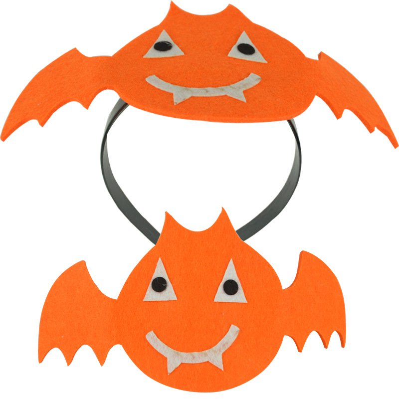 Halloween Headband Ghost Festival Decoration Performance Non-woven Headdress Spider Headdress Bats Head Buckle Supplies