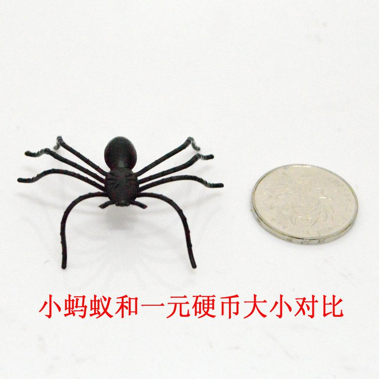 Halloween Tricky Black Spider Simulation Animals Little Ant Plastic Products Halloween Scene Dress Up
