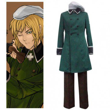 Axis Powers Vash Zwingli Halloween Cosplay Costume
