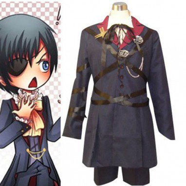 Black Butler Ciel Phantomhive Halloween Cosplay Costume