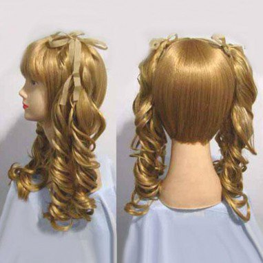 Black butler Elizabeth Halloween Cosplay Wig
