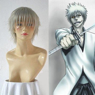 Bleach Hollow Kurosaki Ichigo White Halloween Cosplay Wig