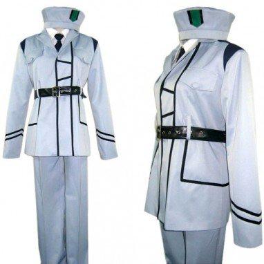 Hetalia  Axis Powers White Uniform Halloween Cosplay Costume