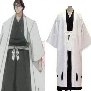 Bleach 5th Division Captain Aizen Sousuke Halloween Cosplay Costume