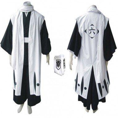 Bleach 6th Division Captain Kuchiki Byakuya Halloween Cosplay Costume