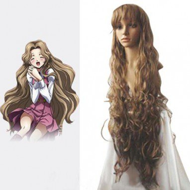 Code Geass Nunnally Vi Britainia Halloween Cosplay Wig