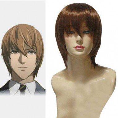 Death Note Light Yagami Kira Brown Halloween Cosplay Wig